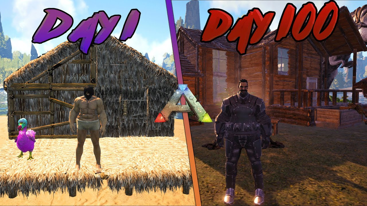 I Played 100 Days of Ark Survival Evolved... Here's What Happened