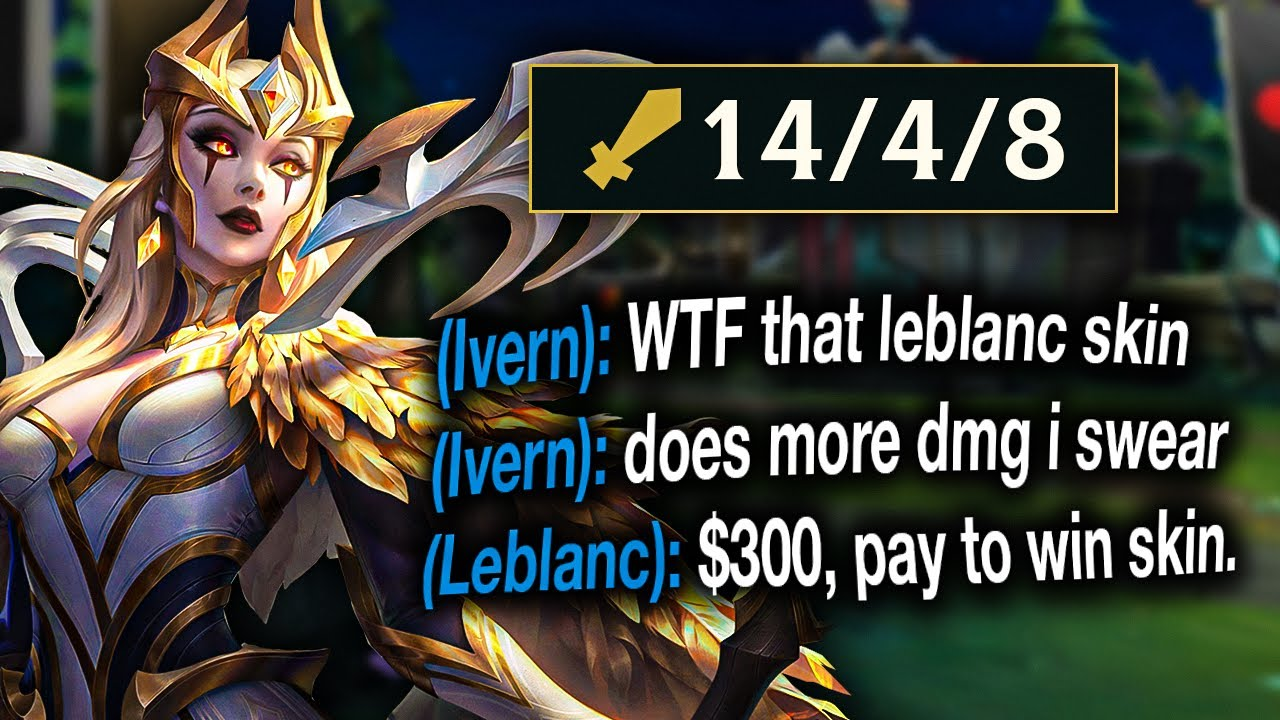 I spent $300 to get this Leblanc skin. The most expensive League skin ever